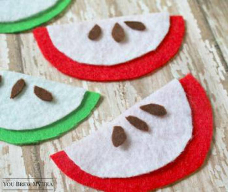 Felt Apple Craft Project