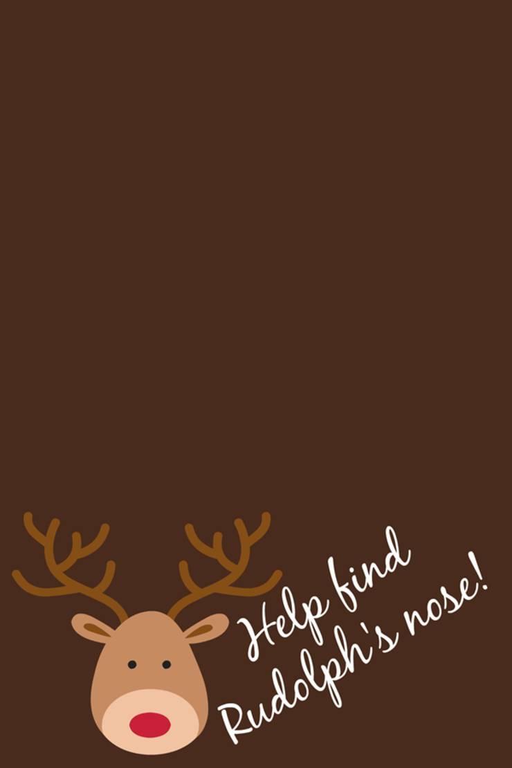 free christmas printable bag topper _ reindeer treat bag topper