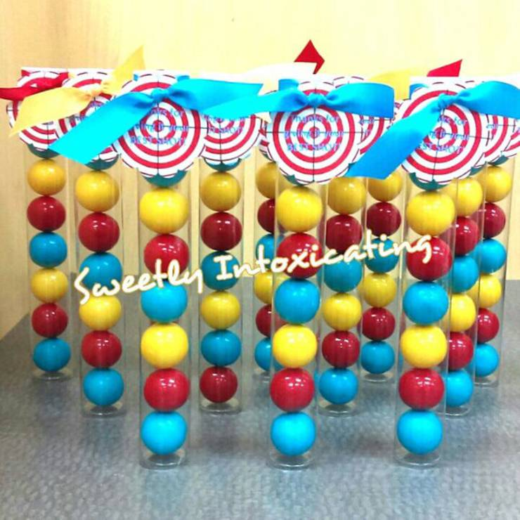 laser tag gumball party favors