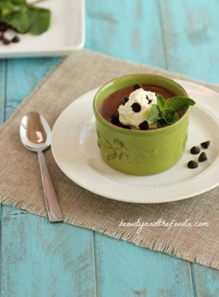 Paleo And Keto Chocolate Mint Pudding