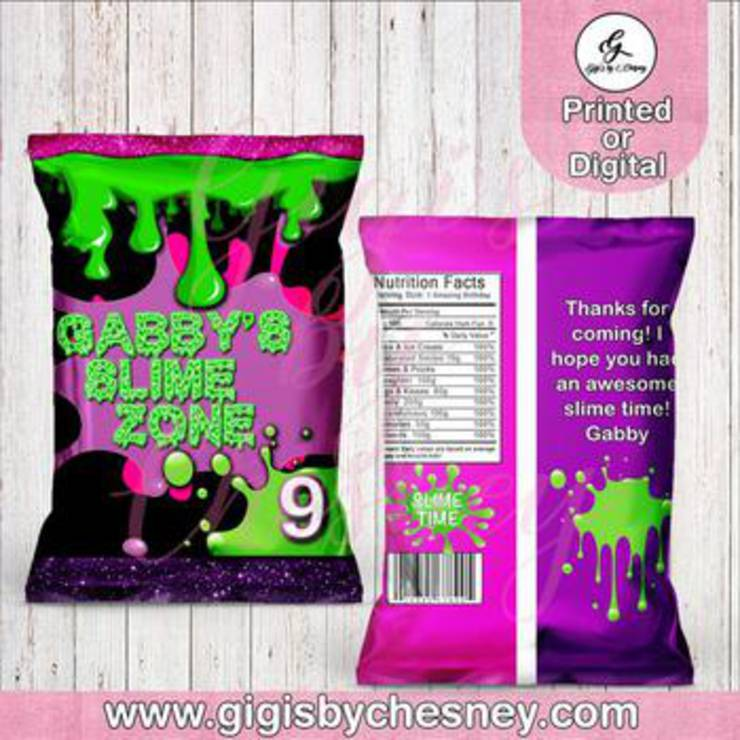 Slime Party Favor Bags