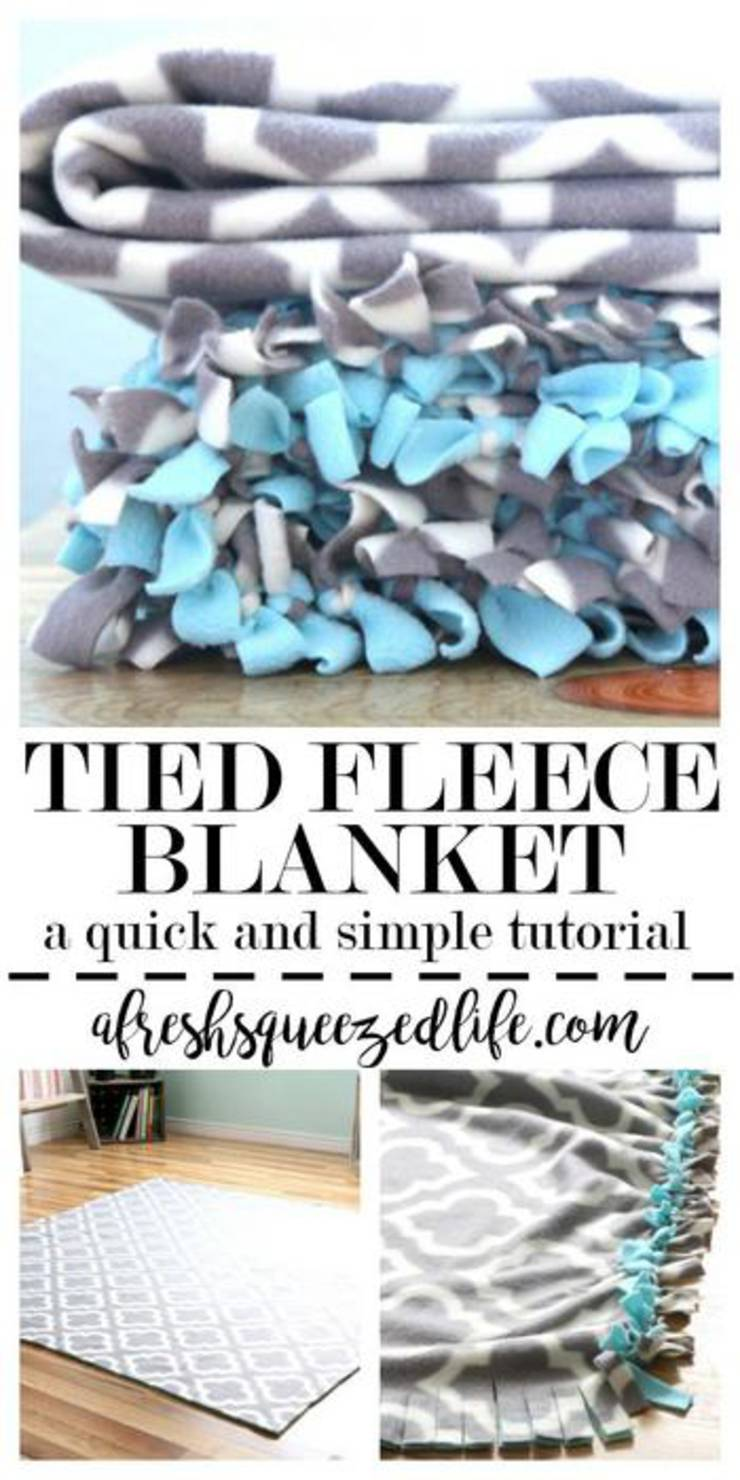 Image of: Simple Diy No Sew Fleece Blankets How To Make No Sew Fleece Blankets Fun Diy Craft Projects Kids Adults Gifts