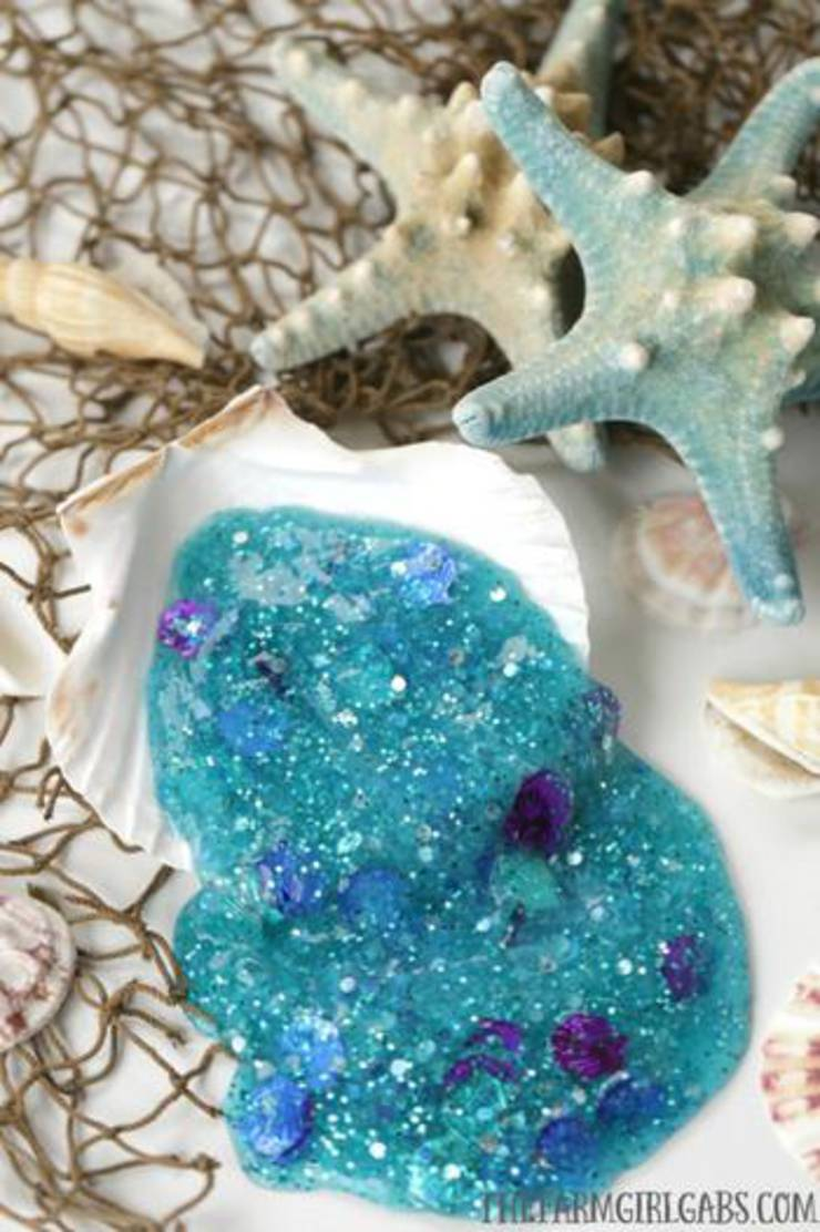 Diy Little Mermaid Slime