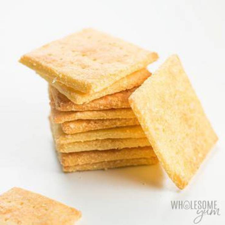 3 Ingredient Keto Crackers _ Low Carb Crackers