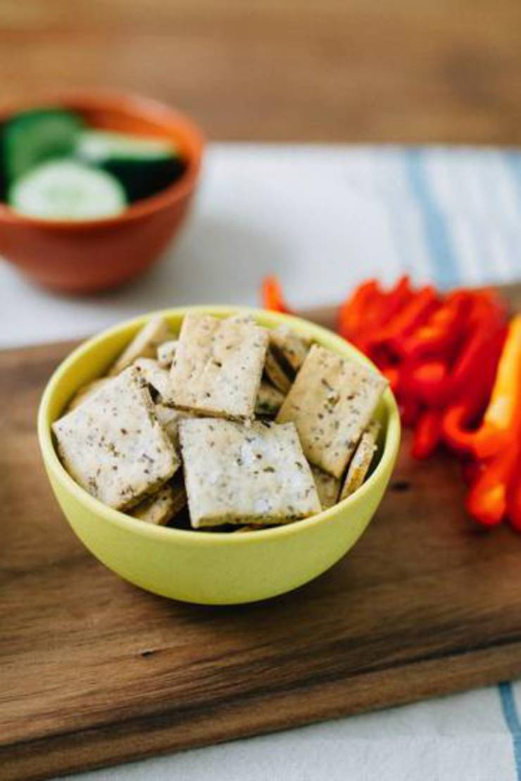 3 Ingredient Low Carb Crackers _ Keto Crackers
