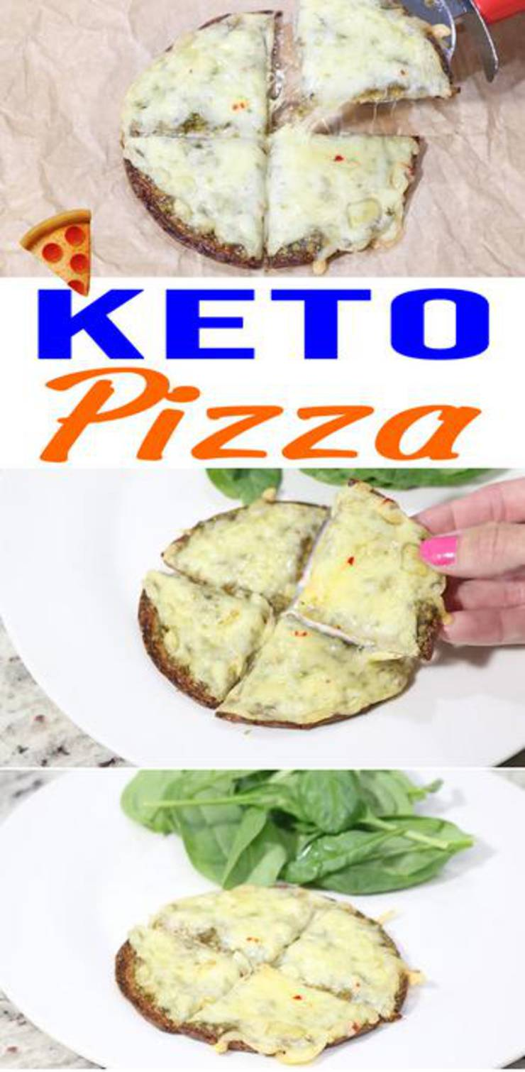 Low Carb Pizza - 3 Ingredient Keto Pizza