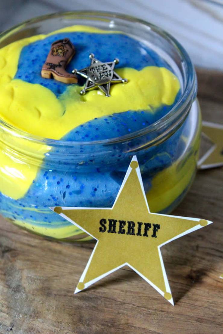 DIY Toy Story Slime - How To Make Homemade Woody Slime - Easy & Fun Recipe For Kids - Disney Inspired Slime - Party Favors - Crafts - Yellow and Blue Slime