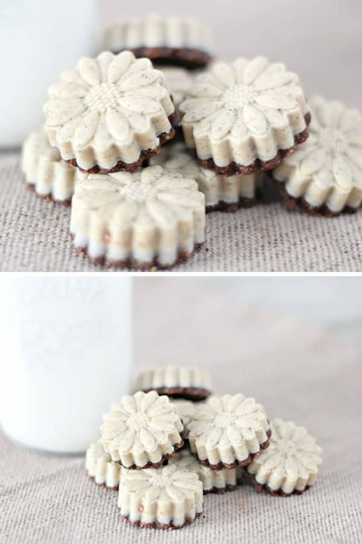 Keto Fat Bombs_BEST Cookies and Cream Fat Bombs_Easy NO Sugar Low Carb Recipe_No Bake Ketogenic Diet Idea