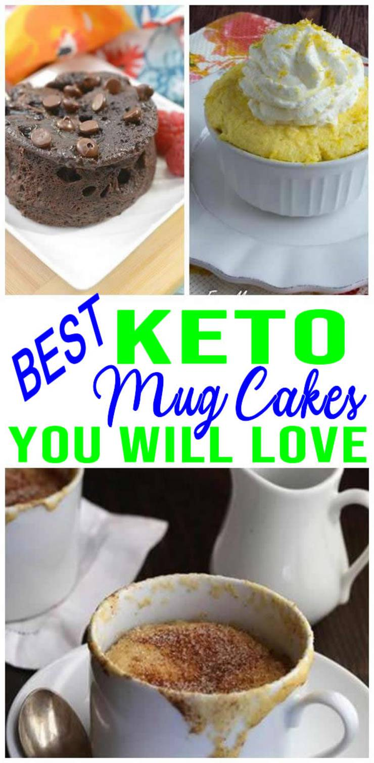 11 Keto Mug Cakes – Super YUMMY – BEST Tasting Keto Mug Cakes – Easy Ketogenic Diet Ideas – Low Carb Recipes