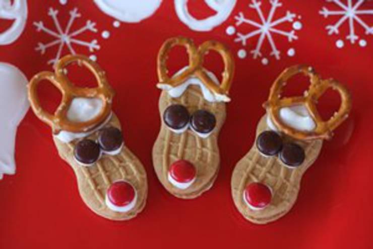 Reindeer-Nutter-Butter-Cookies