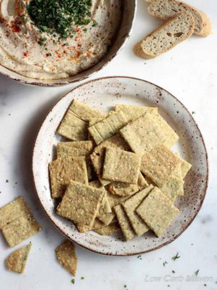 Crispy Keto Crackers _ Low Carb Crackers
