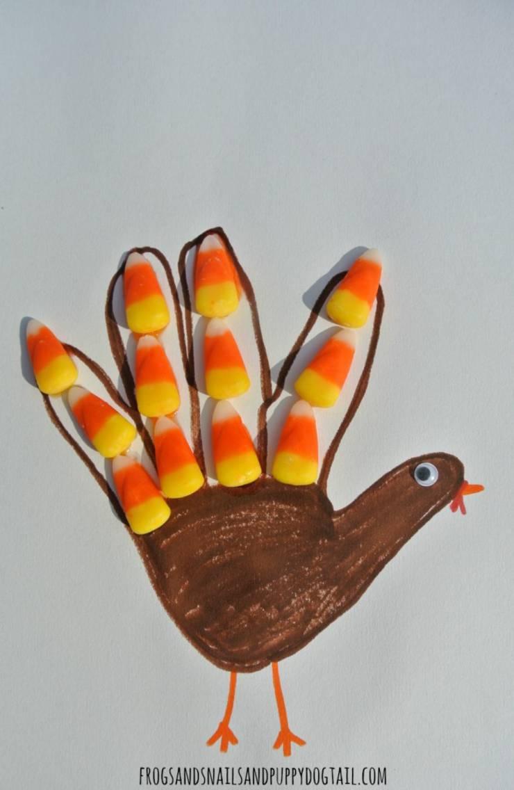 handprint turkey kids thanksgiving craft