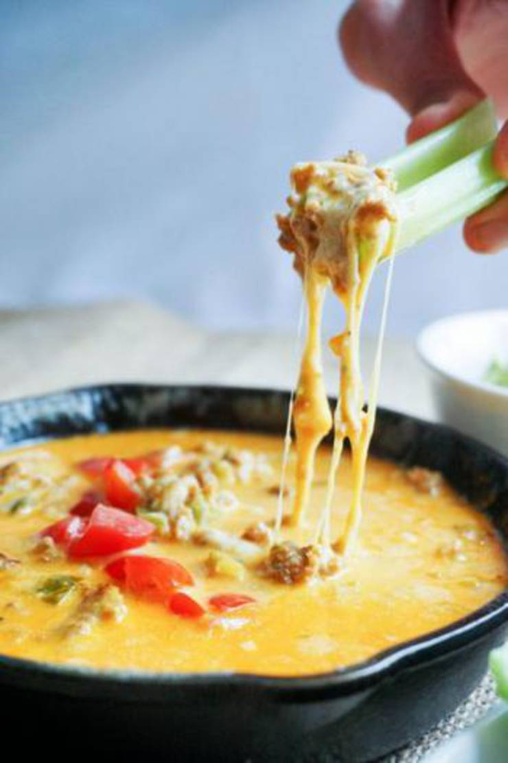 Low Carb Easy Queso Dip