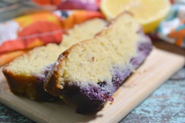 BEST Keto Bread! Low Carb Lemon Blueberry Loaf Bread Idea – Quick & Easy Ketogenic Diet Recipe – Completely Keto Friendly - Gluten Free - Sugar Free