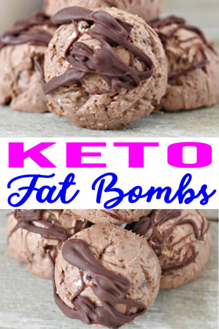 Low-Carb Keto Chocolate Fat Bombs Recipe! Amazing fudgy chocolate balls, made with cream cheese, butter, dark chocolate chips, swerve sweetner and coconut oil. Easy to make, great for a treat, snack or dessert. Keep your sugar cravings satisfied with these delicious keto sweet treats. Low carb recipes for weightloss and keto dessert recipes for the BEST fat bombs!