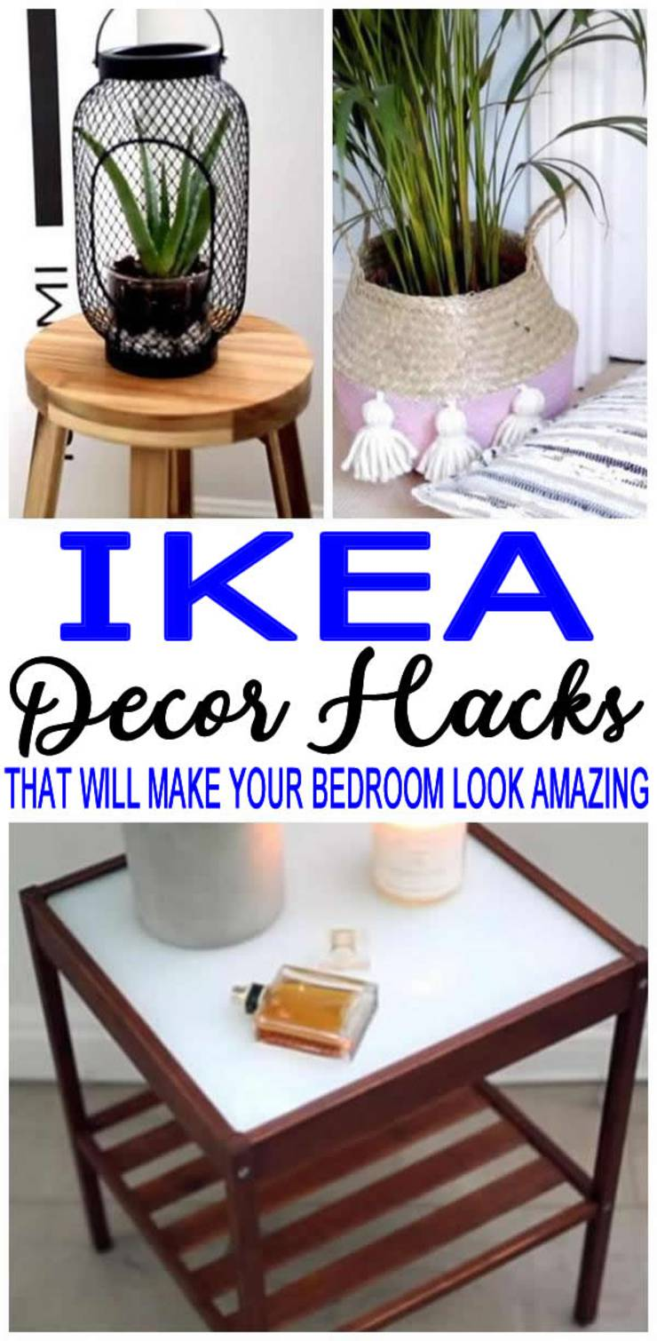 BEST IKEA Hacks & Organization ideas for your bedroom! Amazing and easy DIY craft projects using IKEA products. IKEA hacks for the most amazing bedroom decorations to make your space tidy & adorable. IKEA crafts everyone will love and on a budget - cheap ideas - video tutorials & step by step instructions! Best DIY craft projects for home, apartment, bedroom and for adults, teens and tweens. Check out these IKEA DIYs - ikea bedroom storage, ikea shelves :)