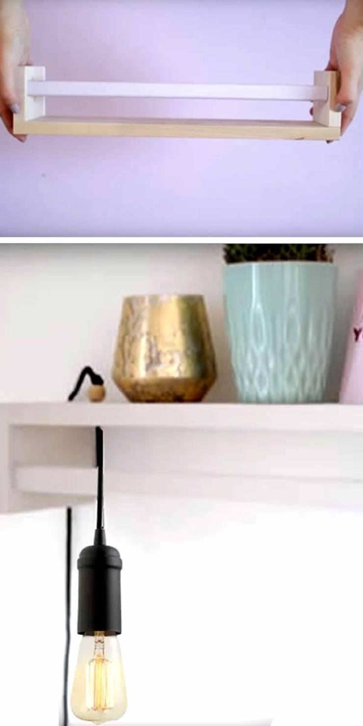 IKEA Spice Rack Hack For Cute Bedroom Shelf - Light & Storage