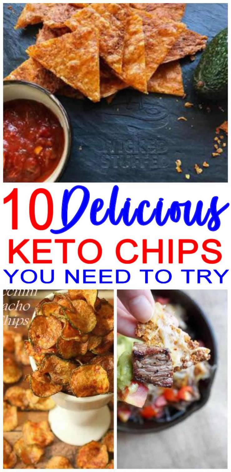 Keto Chips! Easy Low Carb Ideas – BEST Keto Chips- Crispy - Crunchy On the Go Snack - Appetizers – Dipping - Parties – Simple & Quick Ketogenic Diet Recipes