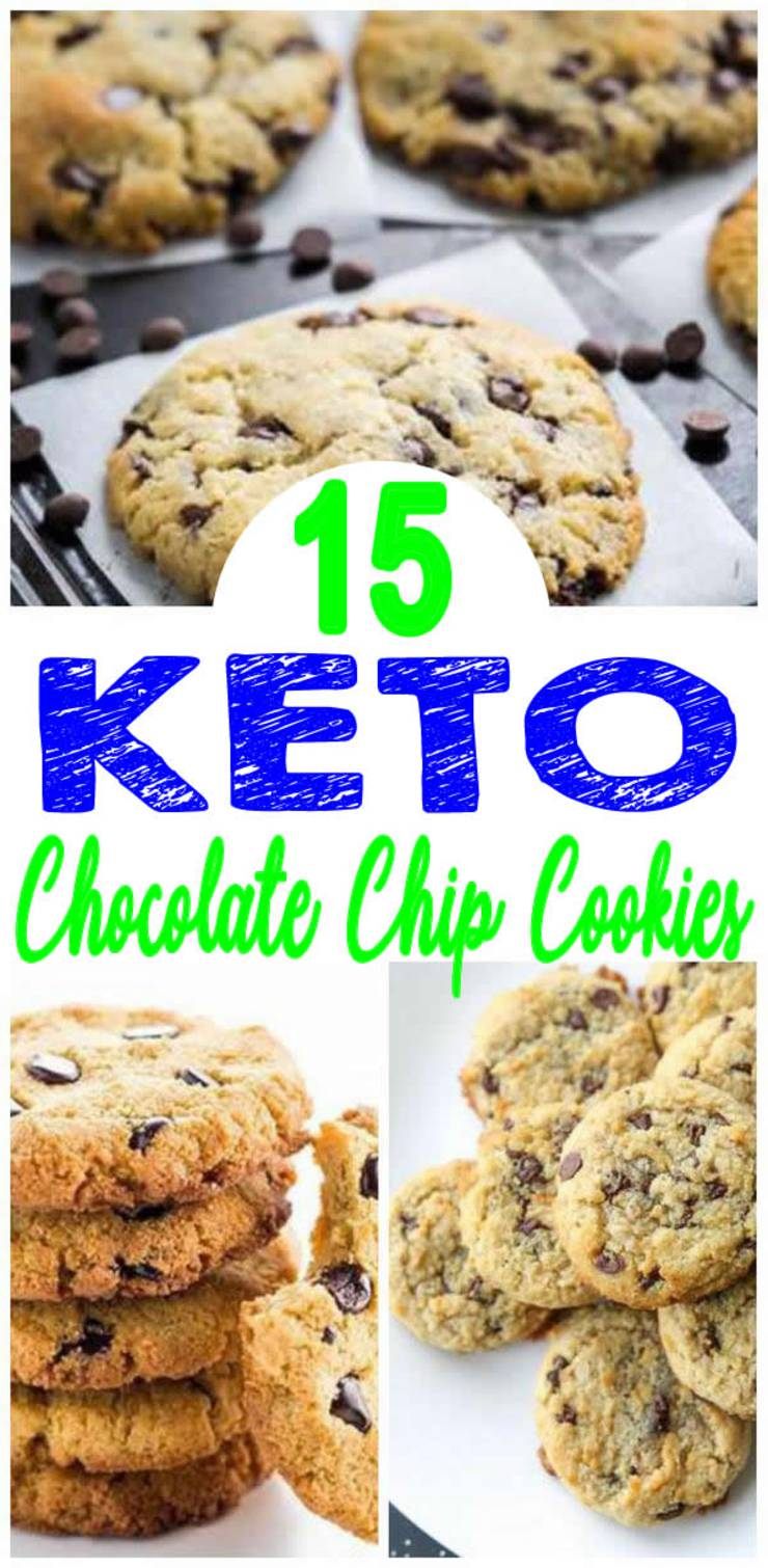 Keto Chocolate Chip Cookies – BEST Low Carb Chocolate Chip Cookie Recipes – Easy Ketogenic Diet Ideas