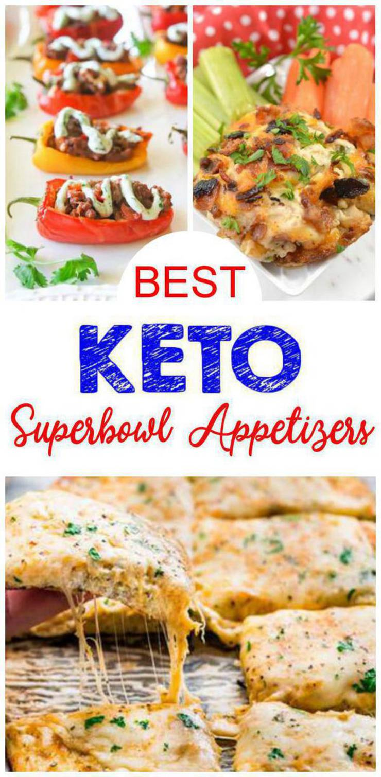 11 Keto Superbowl Appetizers - Easy Low Carb Ideas - BEST Keto Appetizers For Parties -Potluck & Crowd - Quick Ketogenic Diet Recipes