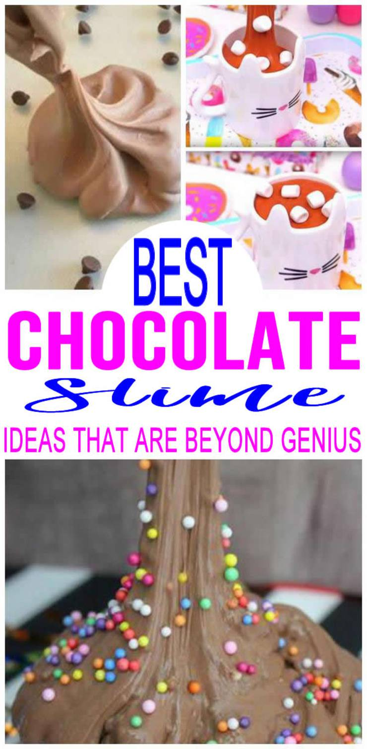 DIY Chocolate Slime Ideas – How To Make Homemade Chocolate Slime – Easy & Fun Recipes For Kids – Fluffy – Edible - Kids Craft Activities – Party Favors