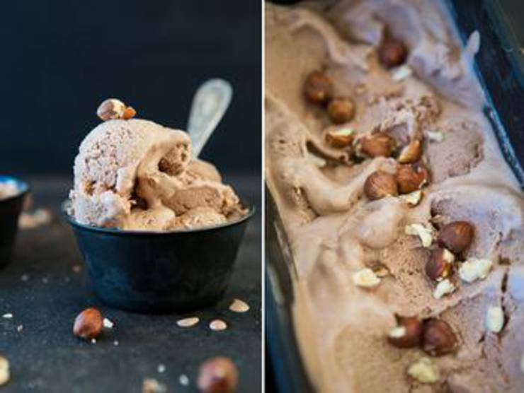 Chocolate And Hazelnut Vegan Ice Cream