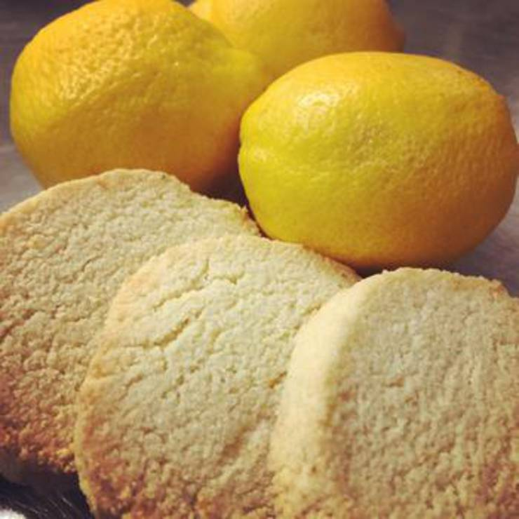 Keto Lemon Shortbread Cookies