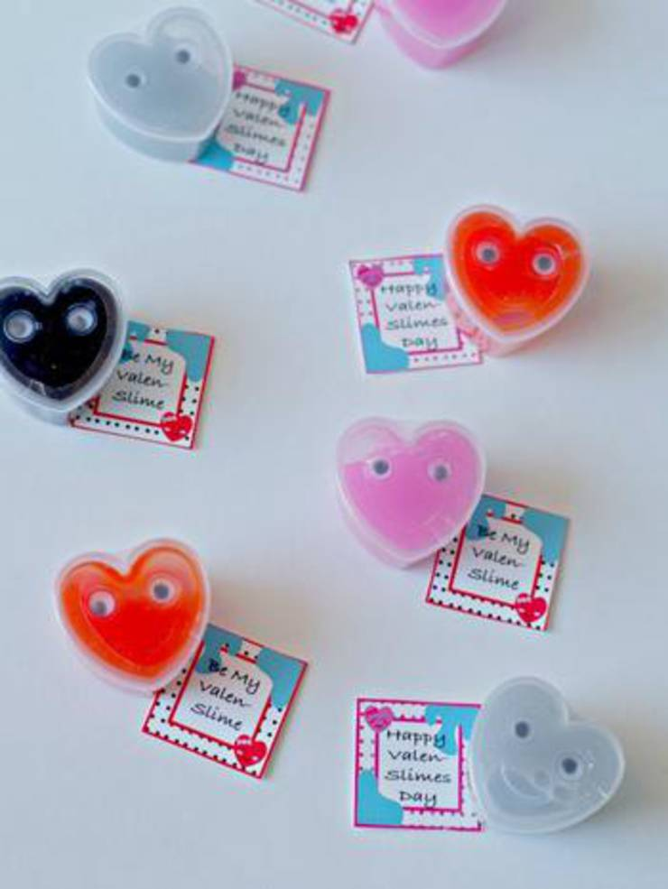 Valentine Slime With Printable