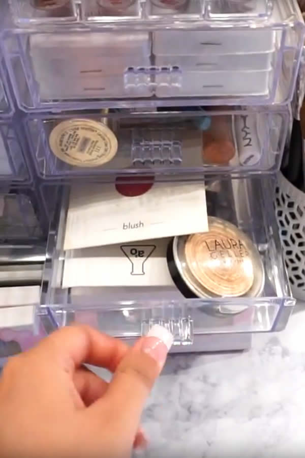 DIY Dollar Store Makeup Organization Hack Idea - storage containers