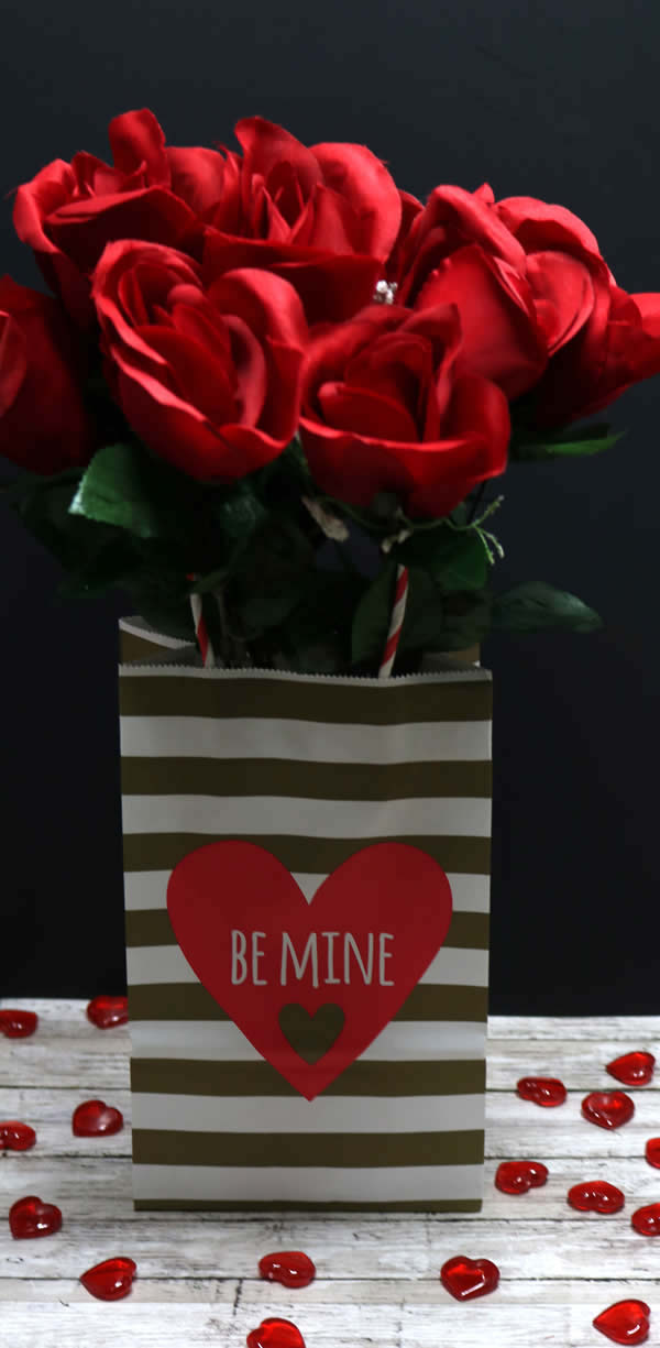Dollar Store Valentine Decorations - Easy DIY Rose Bouquet - Simple & Cute Ideas - For Home - Tables - Classroom - Romantic - Valentines Party