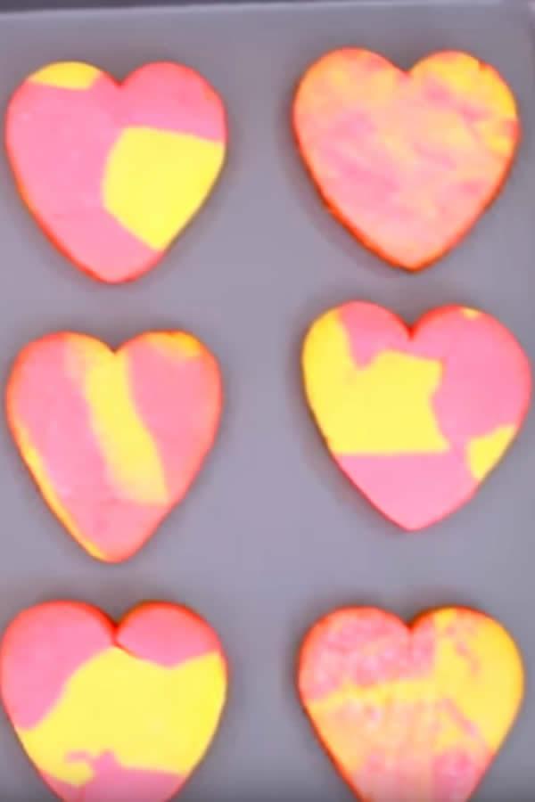 EASY Heart Sugar Cookies - Simple Marble Heart Sugar Cookie Recipe - Fun Cookie Ideas - Valentines Treats - Birthday Parties - Wedding - Kids Desserts - Sweet Treats