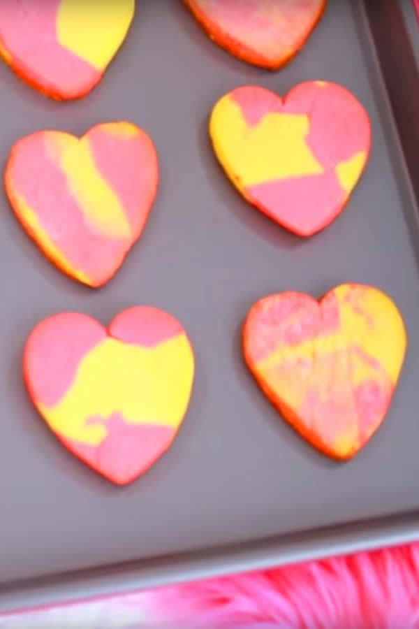 EASY Heart Sugar Cookies – Simple Marble Heart Sugar Cookie Recipe – Fun Cookie Ideas – Valentines Treats – Birthday Parties – Wedding – Kids Desserts – Sweet Treats