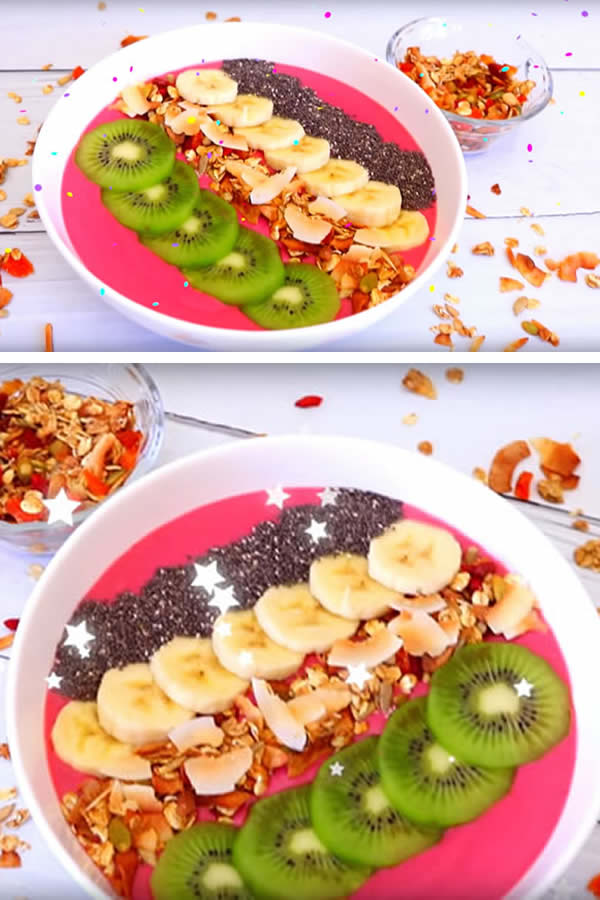 HEALTHY Smoothie Bowl! Easy & Simple Homemade Smoothie Bowl Recipe - Yummy Breakfast Ideas For Kids - Teens - Tweens & Adults