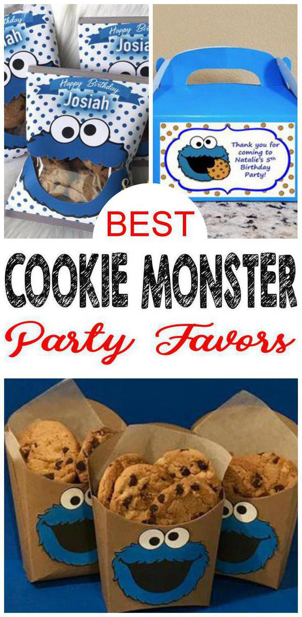 cookie monster birthday party favor ideas