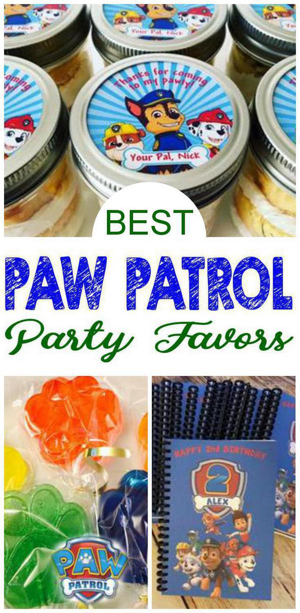 Paw Patrol Birthday Party Favors