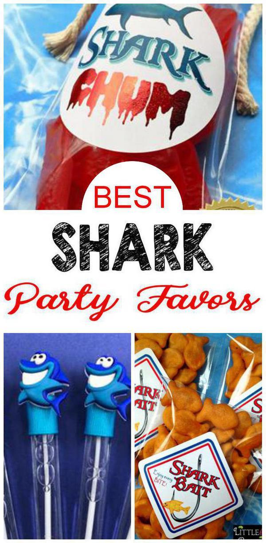 Shark Birthday Party Favors