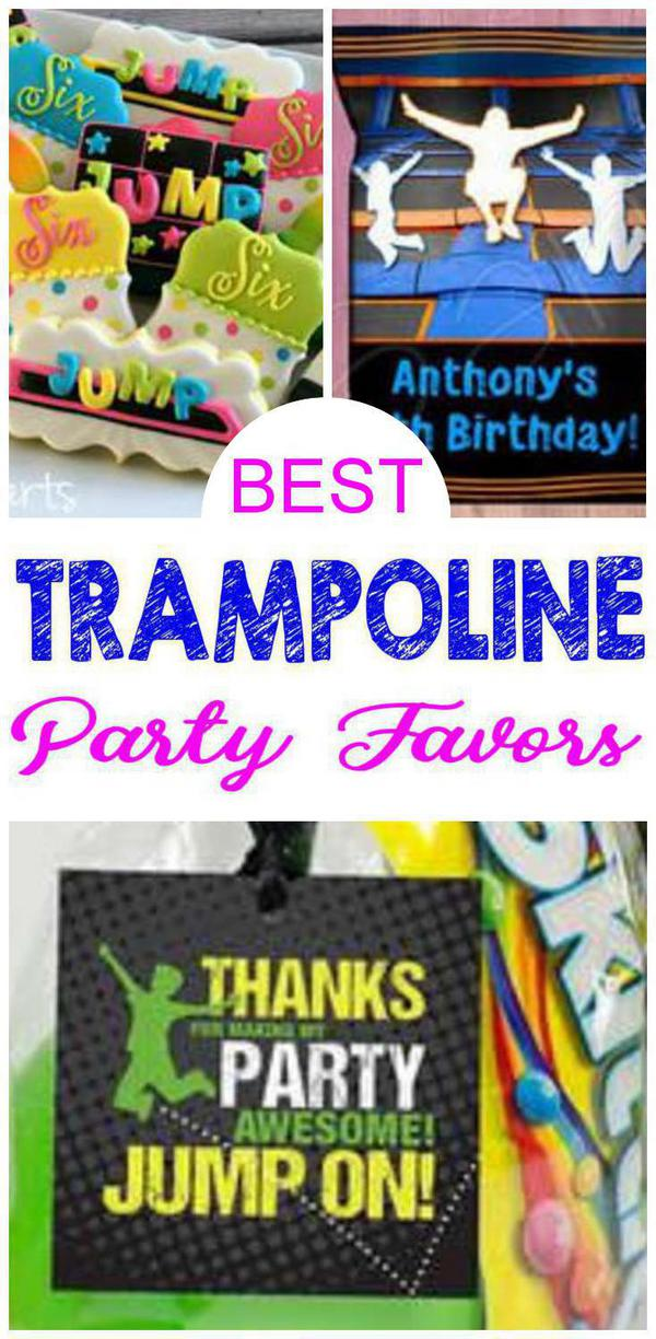 Trampoline Birthday Party Favors