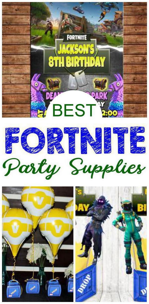 Fortnite Party Supplies - Decorations - Invitations - Balloons