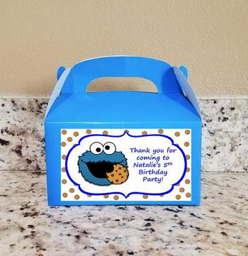 Cookie Monster Favor Boxes