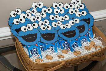 Cookie Monster Favor Tags