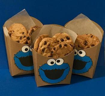 Cookie Monster Party Favor Boxes