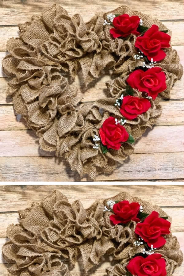 diy dollar store valentine wreath
