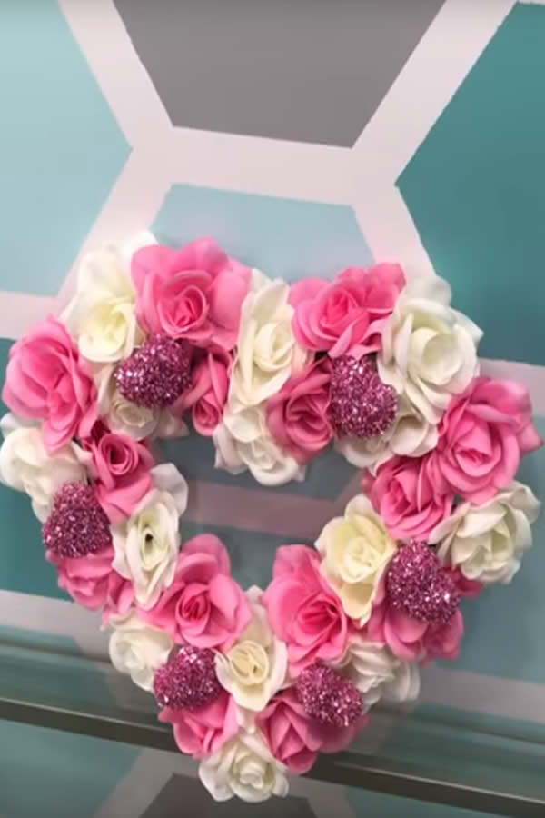 easy diy dollar store valentine wreath