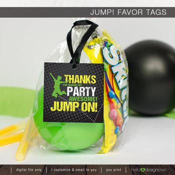 Jump Trampoline Party Favors