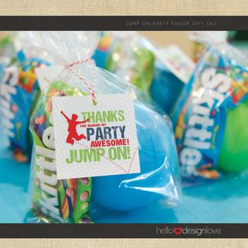 Trampoline Party Favor Bag Idea