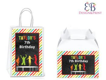 Trampoline Party Favor Bags