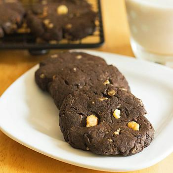 Flourless Peanut Butter Brownie Cookies