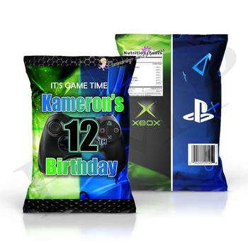 Gaming Party Chip Bags
