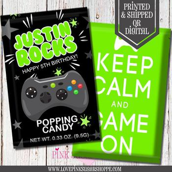 Video Gamer Party Pop Rocks Candy Favor