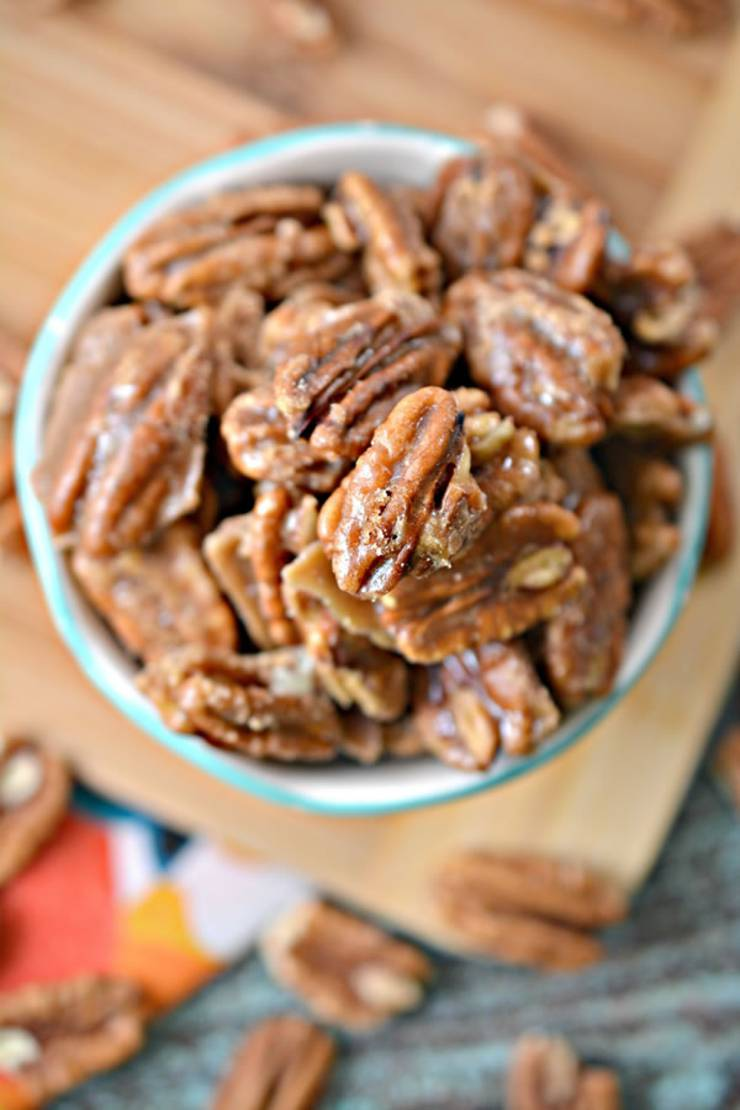BEST Keto Pecans! Low Carb Keto Caramel Coated Pecans Idea - Sugar Free - Quick & Easy Ketogenic Diet Recipe – Completely Keto Friendly